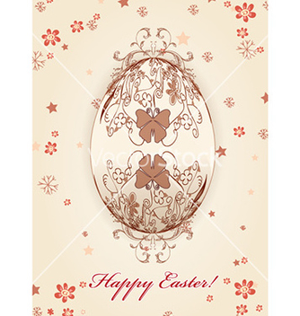 Free egg with floral vector - vector #225461 gratis