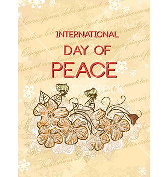 Free international day of peace with doodle flowers vector - бесплатный vector #225481