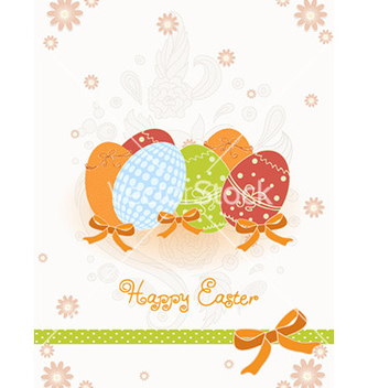 Free eggs with floral vector - vector #225611 gratis