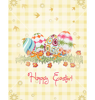 Free eggs with floral vector - бесплатный vector #225681