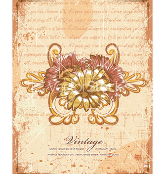 Free floral with grunge vector - Free vector #225751