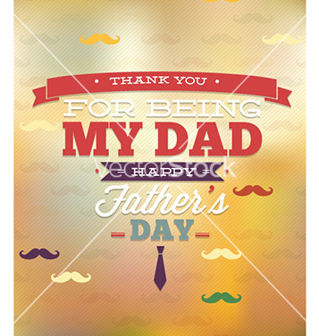 Free fathers day vector - Free vector #225771