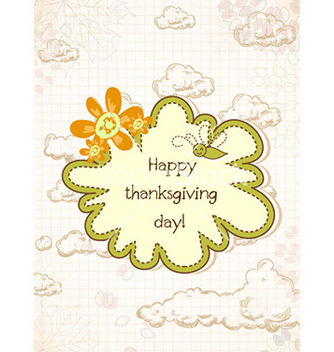 Free happy thanksgiving day with doodle frame vector - бесплатный vector #225831