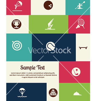 Free with sport elements vector - Kostenloses vector #225891