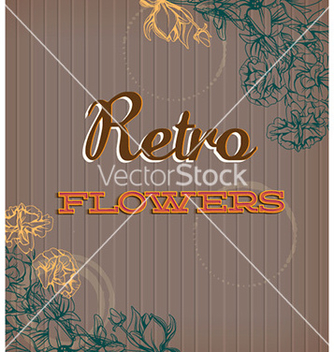 Free retro floral background vector - Free vector #226171