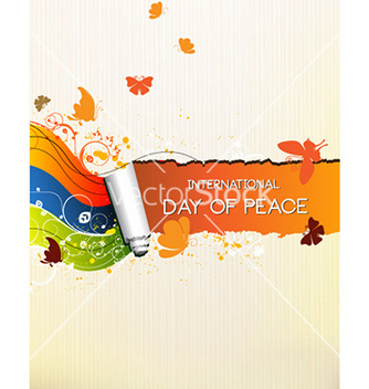 Free international day of peace with torn paper vector - Free vector #227121