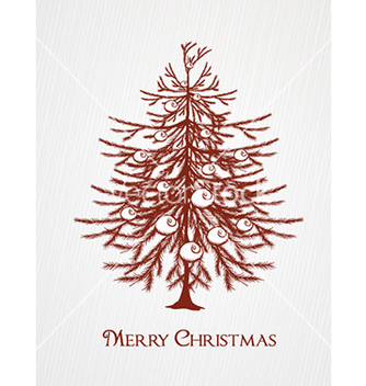 Free christmas with tree vector - vector gratuit #227301