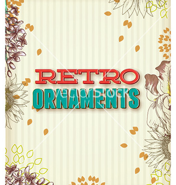 Free retro floral background vector - Free vector #227341