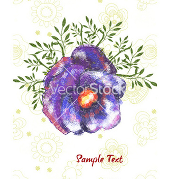 Free watercolor floral background vector - бесплатный vector #227401