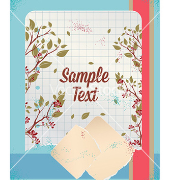 Free retro floral background vector - Kostenloses vector #227461