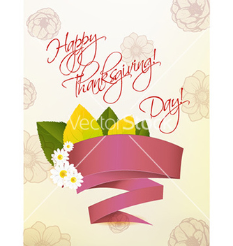 Free happy thanksgiving day with sticker vector - Free vector #227491