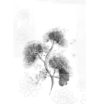Free floral with grunge vector - Free vector #227541