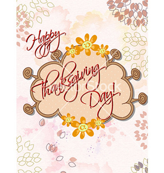 Free happy thanksgiving day with doodle frame vector - Free vector #227651