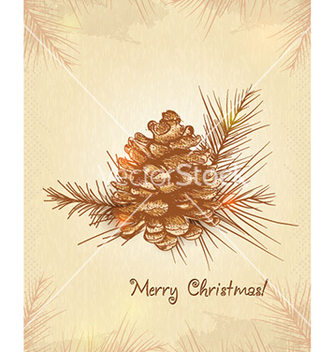 Free christmas with pine cone vector - vector gratuit #227691