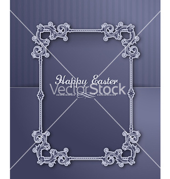 Free easter with floral frame vector - Kostenloses vector #227871