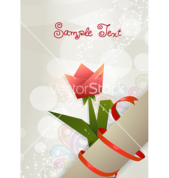 Free spring scroll with floral vector - Kostenloses vector #228331