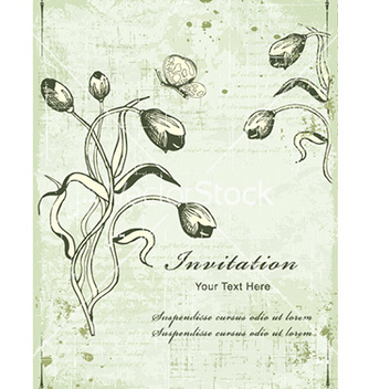 Free vintage background with floral vector - vector #228391 gratis