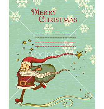 Free christmas with santa vector - vector gratuit #228851