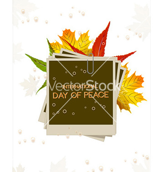 Free international day of peace with photo frame vector - Kostenloses vector #229021