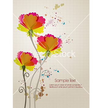 Free colorful floral background vector - Kostenloses vector #229821