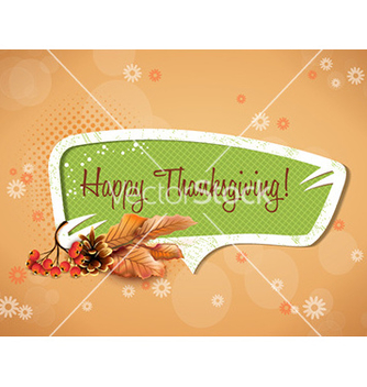 Free happy thanksgiving day with sticker vector - Free vector #229861