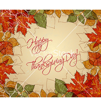 Free happy thanksgiving day with leaves vector - Kostenloses vector #230221