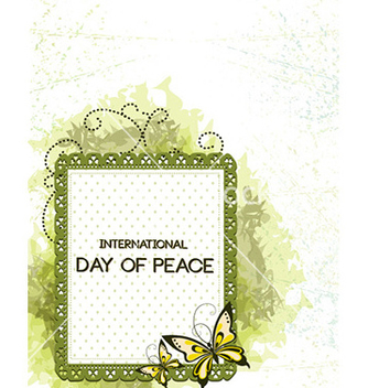 Free international day of peace with doodle frame vector - Free vector #230231