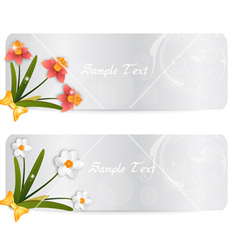 Free spring banners vector - Free vector #230651