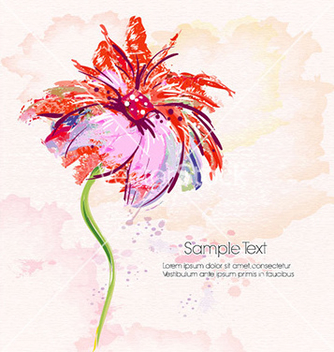 Free watercolor floral background vector - бесплатный vector #230711