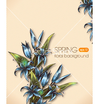 Free floral background vector - vector #230741 gratis
