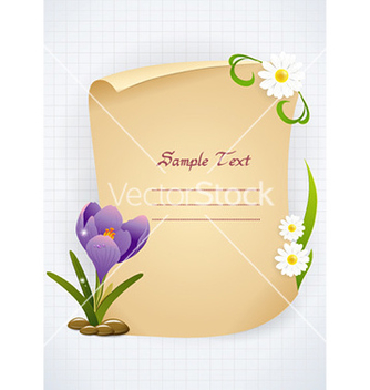 Free spring floral frame vector - Free vector #231021