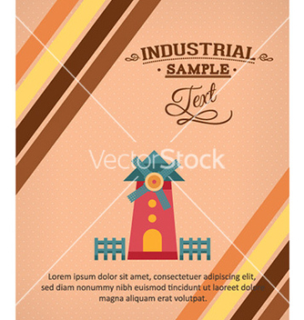 Free with windmill vector - Kostenloses vector #231111