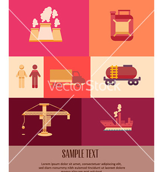 Free with industrial icons vector - Free vector #231171