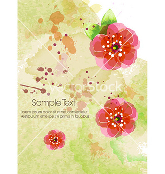 Free watercolor floral background vector - Free vector #231341