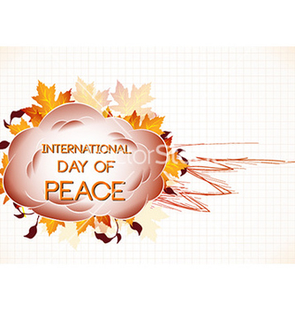 Free international day of peace with cloud vector - Free vector #231451