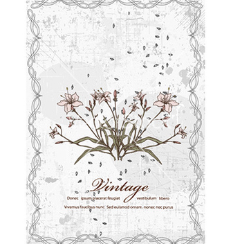 Free vintage background with floral vector - vector #231681 gratis