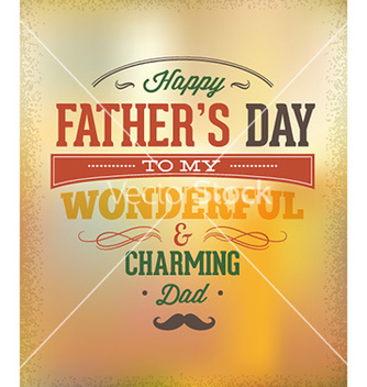 Free fathers day vector - Free vector #231701