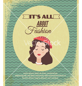 Free with fashion typography and woman head vector - vector gratuit #231991