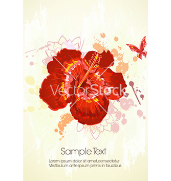 Free watercolor floral background vector - бесплатный vector #232001