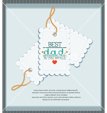 Free fathers day vector - Free vector #232091