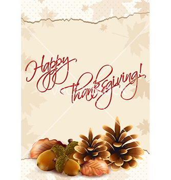 Free happy thanksgiving day with acorn vector - Free vector #232101