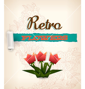 Free retro floral background vector - vector gratuit #232211