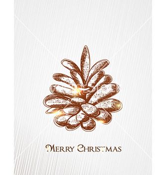 Free christmas with pine cone vector - vector gratuit #232291