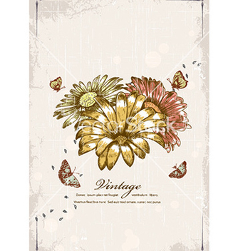 Free butterflies with floral vector - Free vector #232301
