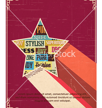 Free with typography elements and star shape vector - Free vector #232391