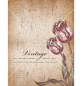 Free vintage floral background vector - Free vector #232421