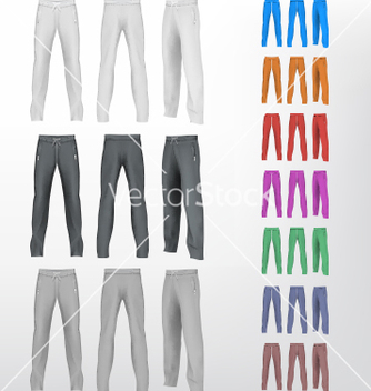 Free sport sweatpants set vector - бесплатный vector #232481