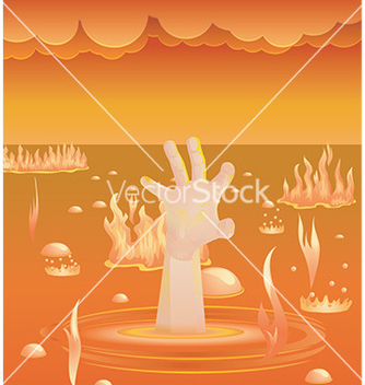 Free hand in hell vector - Free vector #232611