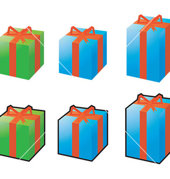 Free present icon set vector - Free vector #232681