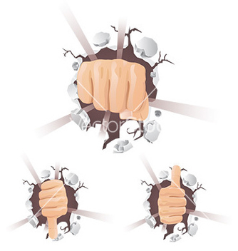 Free cartoon hand gesture vector - Free vector #232731